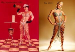 Three generations' costume design